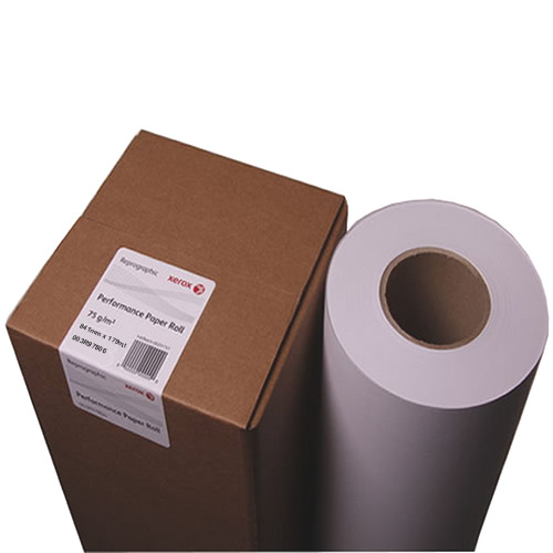 "Xerox PPC Plain Paper Roll 75gsm 841mm x 175mt Untaped at 3"" inch core 003R97806"