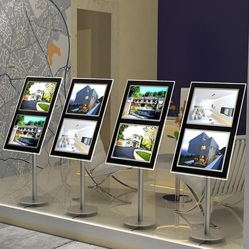 GDS Laser Matt Backlit Frosted Film 200gsm A4 100 sheets - for estate agents' window displays - Colour Laser Copier Media