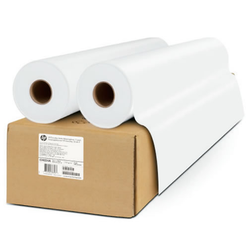 "HP Everyday Self Adhesive Matt White Polypropylene Film Rolls - 225 micron - 36"" inch A0 610mm x 22.9mt - Twin Pack - C0F19A"