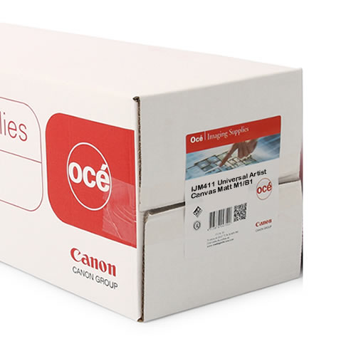 "Canon Group Oce IJM411 Universal Artist Canvas Matt M1/B1 - Flame Retardant / Fire Rated - Acid Free - 370gsm - 24"" inch A1 610mm 15mt - 97460162"