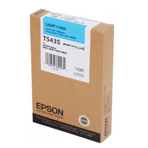 Epson T543500 Light Cyan Ink Tank Cartridge 110ml C13T543500 for Epson Stylus Pro 4000, 7600 & 9600 wide format graphics printers, available from stock for immediate dispatch from GDS Graphic Design Supplies Ltd