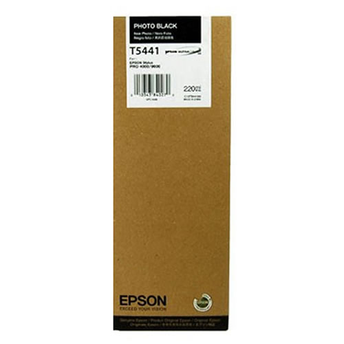 Epson T544100 Photo Black Ink Tank Cartridge 220ml C13T544100 for Epson Stylus Pro 4000, 4400-Film & 9600 Printers from GDS Graphic Design Supplies Ltd