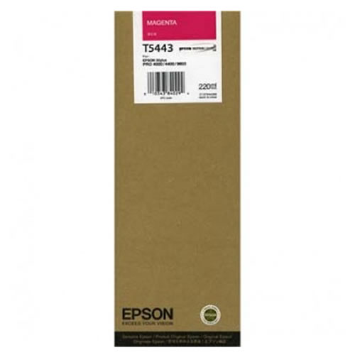 Epson T544300 Magenta Ink Cartridge - 220ml Tank - C13T544300 - for Epson Stylus Pro 4000, 7600 & 9600 Printers available from stock for immediate dispatch from GDS Graphic Design Supplies Ltd
