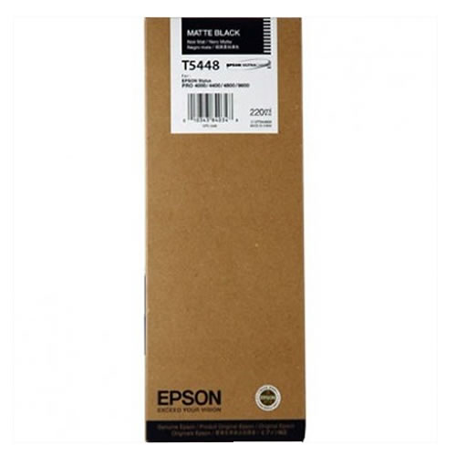 Epson T544800 Matte Black Ink Cartridge - 220ml Tank - C13T544800 - for Epson Stylus Pro 4000, 7600 & 9600 Printers available from stock for immediate dispatch from GDS Graphic Design Supplies Ltd