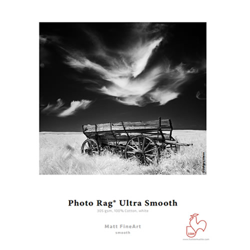 Hahnemühle Photo Rag Ultra Smooth 305gsm - Digital Fine Art Paper Media - A3 x 25 sheets - 10641614 - express delivery from GDS - Graphic Design Supplies Ltd