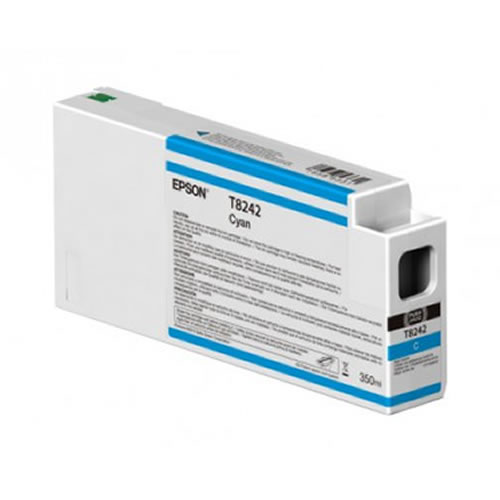Epson T824200 Cyan Ink Cartridge - 350ml Tank - C13T824200 - for Epson SureColor SC-P6000, SC-P7000, SC-P8000 & SC-P9000 wide format graphics printers, available from stock for immediate dispatch from GDS Graphic Design Supplies Ltd