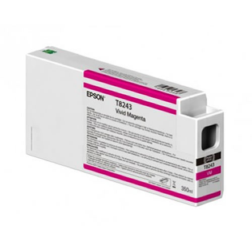 Epson T824300 Magenta Ink Cartridge - 350ml Tank - C13T824300 - for Epson SureColor SC-P6000, SC-P7000, SC-P8000 & SC-P9000 wide format graphics printers, available from stock for immediate dispatch from GDS Graphic Design Supplies Ltd