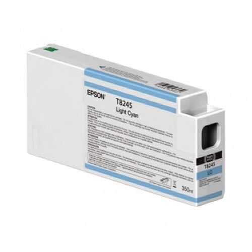 Epson T824500 Light Cyan Ink Cartridge - 350ml Tank - C13T824500 - for Epson SureColor SC-P6000, SC-P7000, SC-P8000 & SC-P9000 wide format graphics printers, available from stock for immediate dispatch from GDS Graphic Design Supplies Ltd