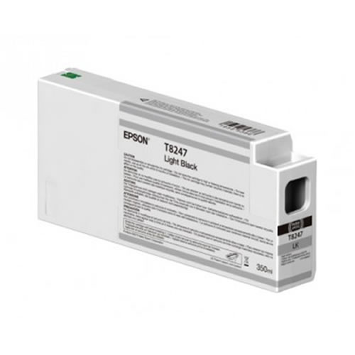 Epson T824700 Light Black Ink Cartridge - 350ml Tank - C13T824700 - for Epson SureColor SC-P6000, SC-P7000, SC-P8000 & SC-P9000 wide format graphics printers, available from stock for immediate dispatch from GDS Graphic Design Supplies Ltd