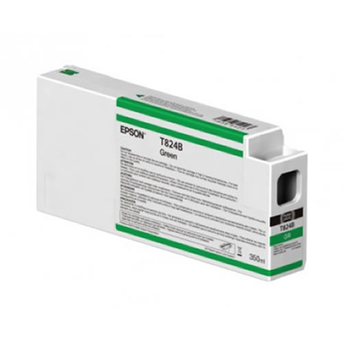 Epson T824B00 Green Ink Cartridge - 350ml Tank - C13T824B00 - for Epson SureColor SC-P7000 & SC-P9000 wide format graphics printers, available from stock for immediate dispatch from GDS Graphic Design Supplies Ltd