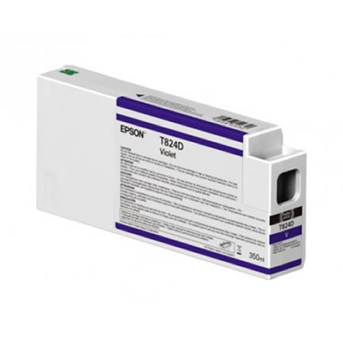Epson T824D00 VIolet Ink Cartridge - 350ml Tank - C13T824D00 - for Epson SureColor SC-P9000 Violet wide format graphics printers, available from stock for immediate dispatch from GDS Graphic Design Supplies Ltd