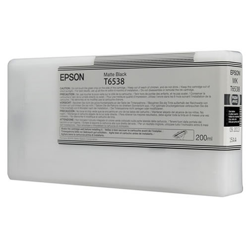 Epson T653800 Matte Black Ink Tank 200ml Cartridge C13T653800 for Epson Stylus Pro 4900 printers  - in stock next day delivery GDS Graphic Design Supplies