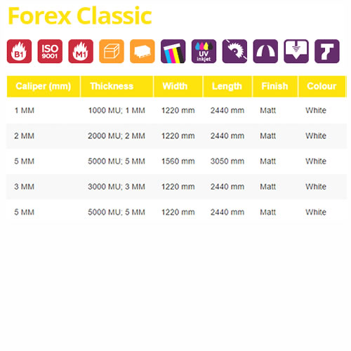 Forex Classic - Sizes & Colours from GDS | Graphic Design Supplies Ltd
