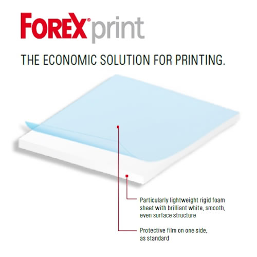 Forex Print Board - White - 3mm - 1220mm x 3050mm sheet - delivered next day or cut to custom size by GDS Graphic Design Supplies Ltd