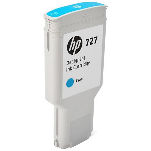 HP 727 Cyan Ink Cartridge - 300ml - Extra Large High Capacity - for HP DesignJet T930, T1530 Printers & T2530 MFPs - F9J76A