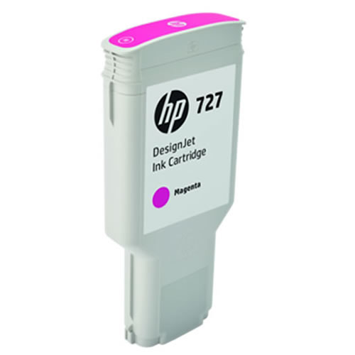 HP 727 Magenta Ink Cartridge - 300ml - Extra Large High Capacity - for HP DesignJet T930, T1530 Printers & T2530 MFPs - F9J77A