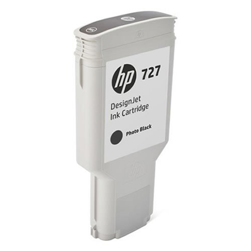 HP 727 Photo Black Ink Cartridge - 300ml - Extra Large High Capacity - for HP DesignJet T930, T1530 Printers & T2530 MFPs - F9J79A