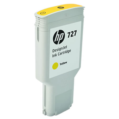 HP 727 Yellow Ink Cartridge - 300ml - Extra Large High Capacity - for HP DesignJet T930, T1530 Printers & T2530 MFPs - F9J78A