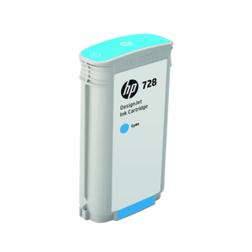 HP 728 Cyan Ink Cartridge - 130ml Ink Tank - for HP DesignJet T730 & T830 MFP - F9J67A - express delivery from GDS - Graphic Design Supplies Ltd