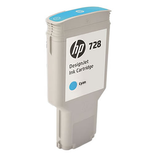HP 728 Cyan Ink Cartridge - 300ml Ink Tank - for HP DesignJet T730 Printer & T830 MFP - F9K17A - express delivery from GDS - Graphic Design Supplies Ltd