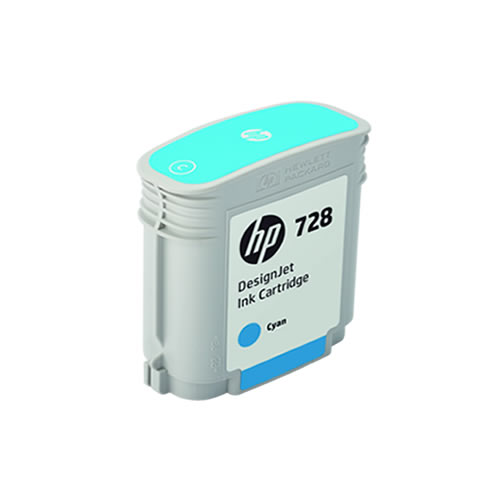 HP 728 Cyan Ink Cartridge - 40ml Ink Tank - for HP DesignJet T730 & T830 MFP - F9J63A - express delivery from GDS - Graphic Design Supplies Ltd