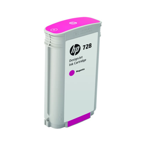HP 728 Magenta Ink Cartridge - 130ml Ink Tank - for HP DesignJet T730 & T830 MFP - F9J66A - express delivery from GDS - Graphic Design Supplies Ltd