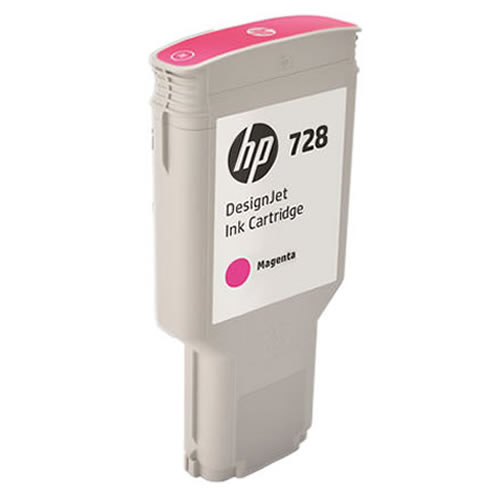 HP 728 Magenta Ink Cartridge - 300ml Ink Tank - for HP DesignJet T730 Printer & T830 MFP - F9K16A - express delivery from GDS - Graphic Design Supplies Ltd