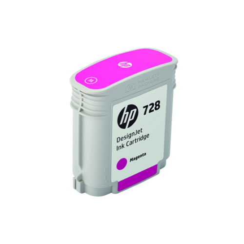 HP 728 Magenta Ink Cartridge - 40ml Ink Tank - for HP DesignJet T730 & T830 MFP - F9J62A - express delivery from GDS - Graphic Design Supplies Ltd