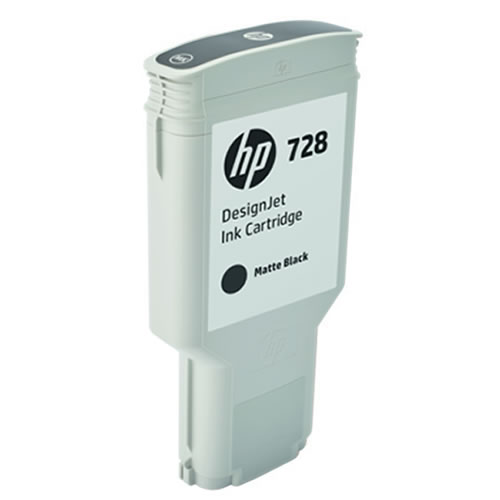 HP 728 Matte Black Ink Cartridge - 300ml Ink Tank - for HP DesignJet T730 & T830 MFP - F9J68A - express delivery from GDS - Graphic Design Supplies Ltd