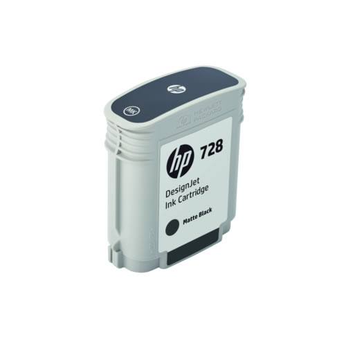 HP 728 Matte Black Ink Cartridge - 69ml Ink Tank - for HP DesignJet T730 & T830 MFP - F9J64A - express delivery from GDS - Graphic Design Supplies Ltd