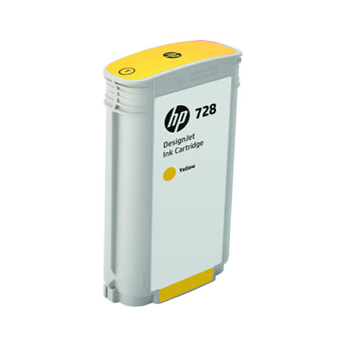 HP 728 Yellow Ink Cartridge - 130ml Ink Tank - for HP DesignJet T730 Printer & T830 MFP - F9J65A - express delivery from GDS - Graphic Design Supplies Ltd