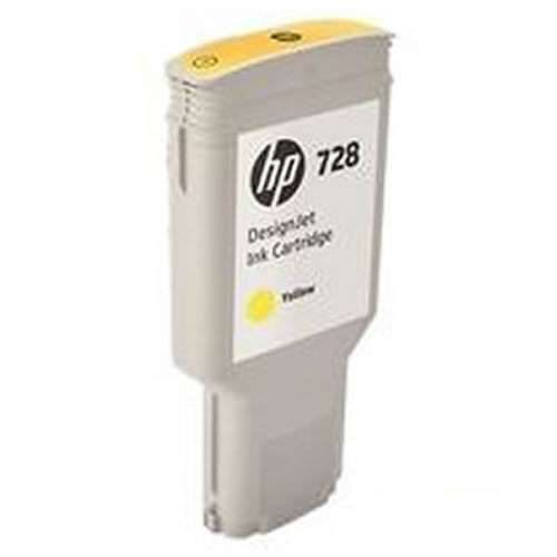 HP 728 Yellow Ink Cartridge - 300ml Ink Tank - for HP DesignJet T730 Printer & T830 MFP - F9K15A - express delivery from GDS - Graphic Design Supplies Ltd