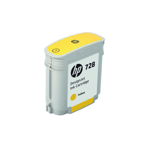 HP 728 Yellow Ink Cartridge - 40ml Ink Tank - for HP DesignJet T730 & T830 MFP - F9J61A - express delivery from GDS - Graphic Design Supplies Ltd