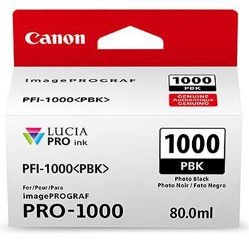 Canon PFI-1000PBK Photo Black Ink Tank 80ml - for Canon PRO-1000 Photo Printer - 0546C001