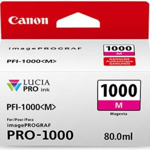 Canon PFI-1000M Magenta Ink Tank 80ml - for Canon PRO-1000 Photo Printer - 0548C001 - from GDS | Graphic Design Supplies Ltd