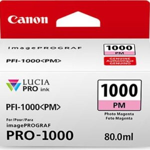 Canon PFI-1000PM Photo Magenta Ink Tank - 80ml Cartridge - for Canon PRO-1000 Photo Printer - 0551C001 - from GDS | Graphic Design Supplies Ltd