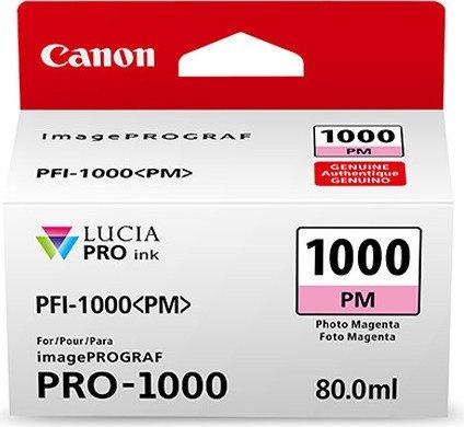 Canon PFI-1000PM Photo Magenta Ink Tank - 80ml Cartridge - for Canon PRO-1000 Photo Printer - 0551C001 - from GDS   Graphic Design Supplies Ltd