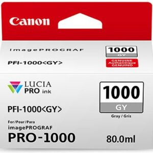 Canon PFI-1000GY Grey Ink Tank - 80ml Cartridge - for Canon PRO-1000 Photo Printer - 0552C001