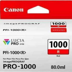 Canon PFI-1000R Red Ink Tank - 80ml Cartridge - for Canon PRO-1000 Photo Printer - 0554C001