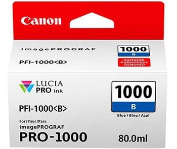 Canon PFI-1000B Blue Ink Tank - 80ml Cartridge - for Canon PRO-1000 Photo Printer - 0555C001