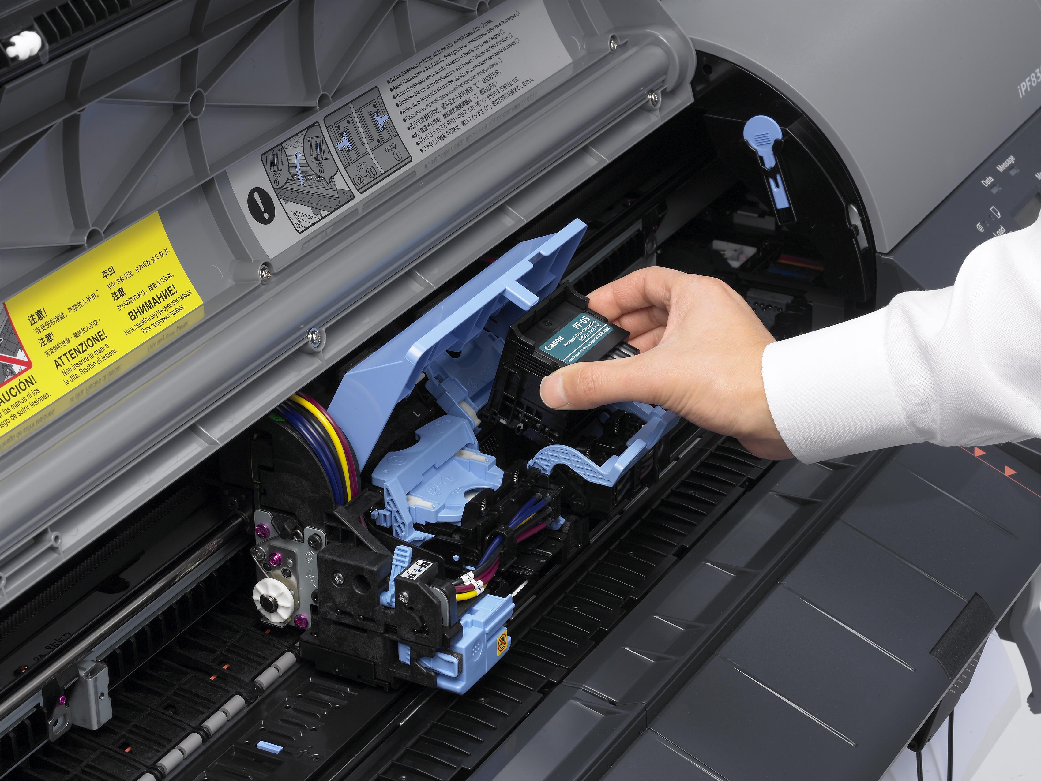 Changing the PF-05 printhead in a Canon iPF8300