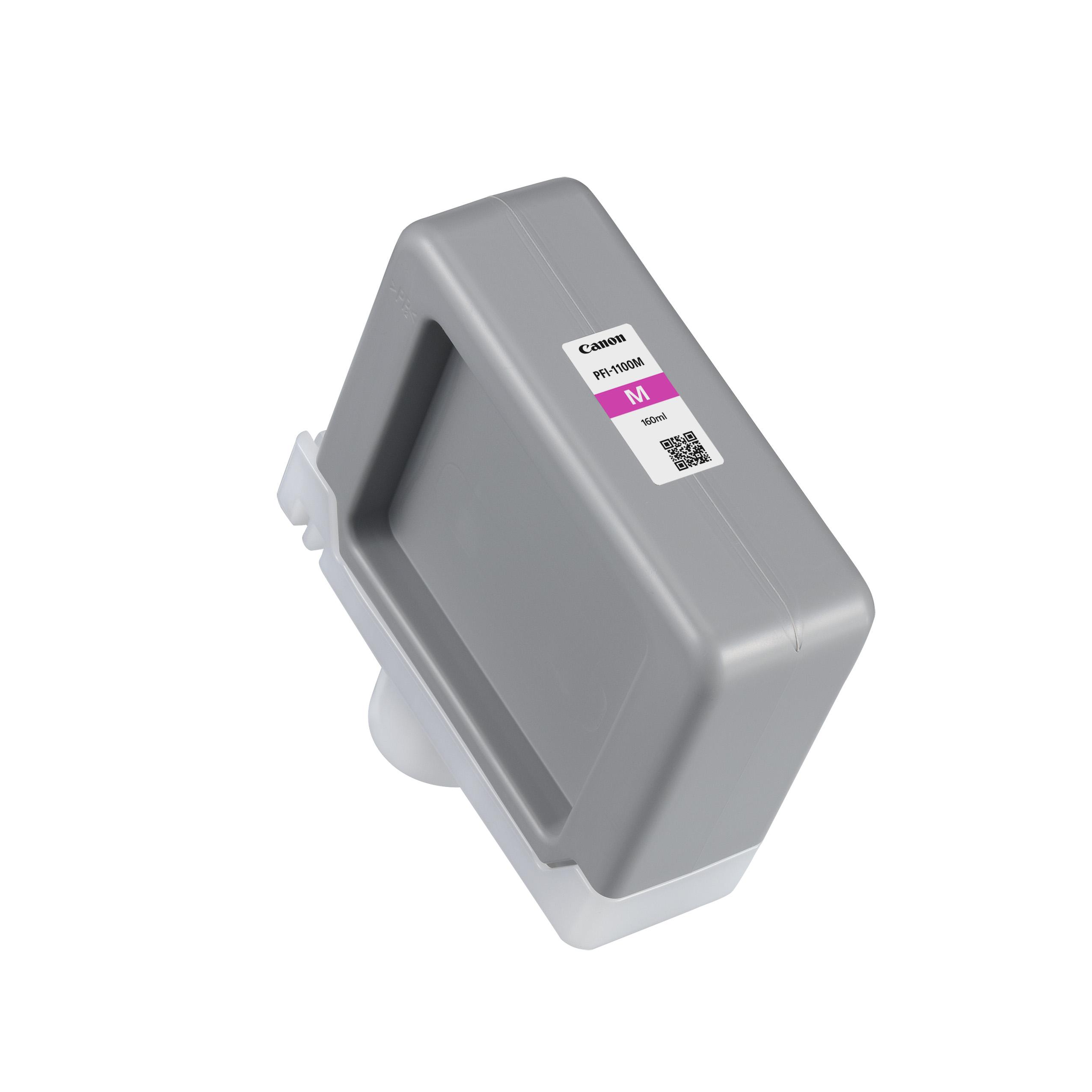 Canon PFI-1100M Magenta Ink Tank | 160ml Cartridge | for Canon PRO-2000, PRO-2100, PRO-4000S, PRO-4000, PRO-4100S, PRO-4100, PRO-6000S, PRO-6000, PRO-6100S & PRO-6100 Printers | 0852C001AA