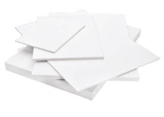 Foamalite Premium Filmed Board - White - 3mm - 1220mm x 2440mm Sheet