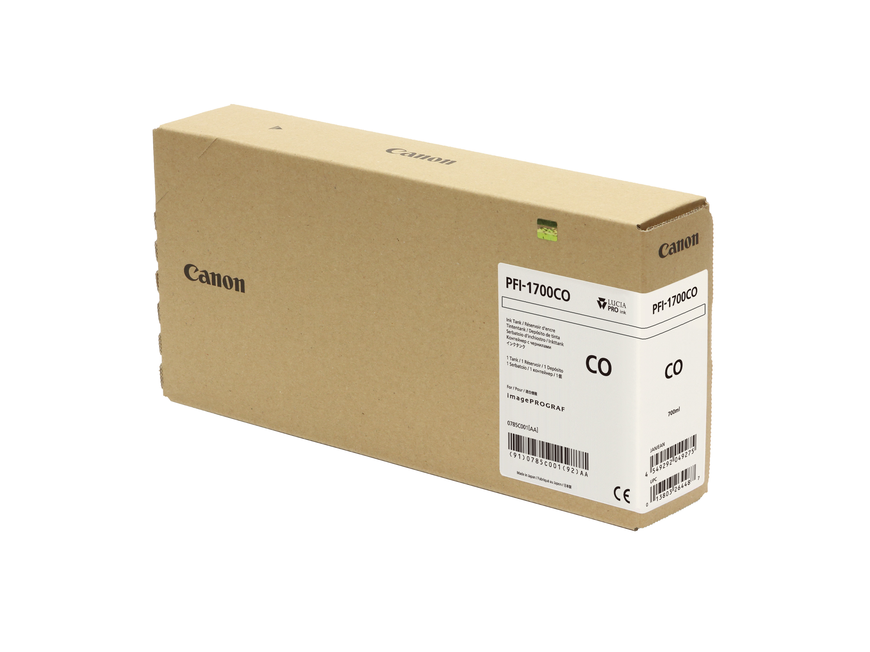 Canon PFI-1700CO Chroma Optimizer Ink Tank - 700ml Cartridge - for Canon PRO-2000, PRO-4000 Printers - 0785C001AA - next day delivery from GDS Graphic Design Supplies Ltd