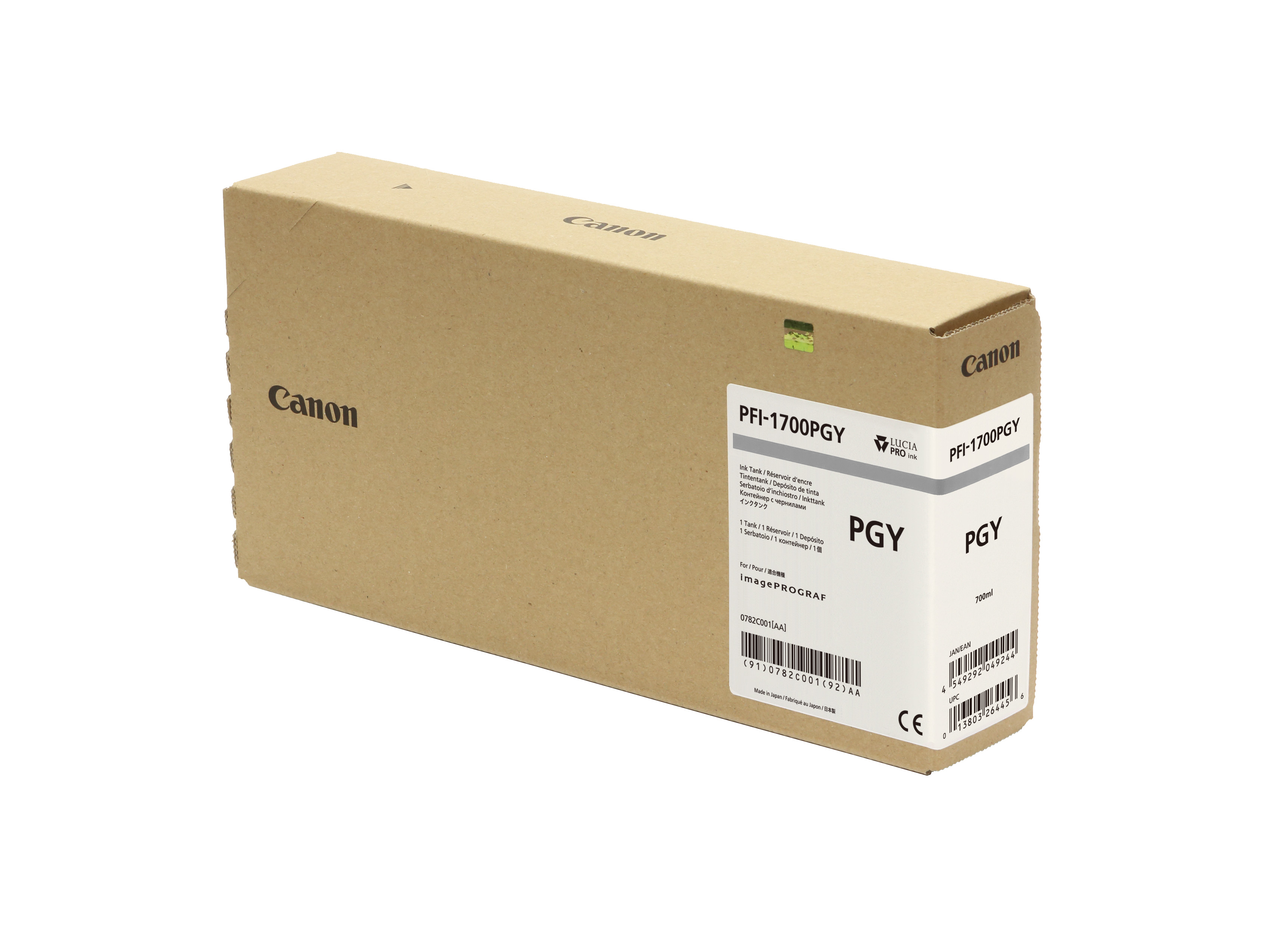 Canon PFI-1700PGY Photo Grey Ink Tank - 700ml Cartridge - for Canon PRO-2000, PRO-4000 Printers - 0782C001AA - next day delivery from GDS Graphic Design Supplies Ltd