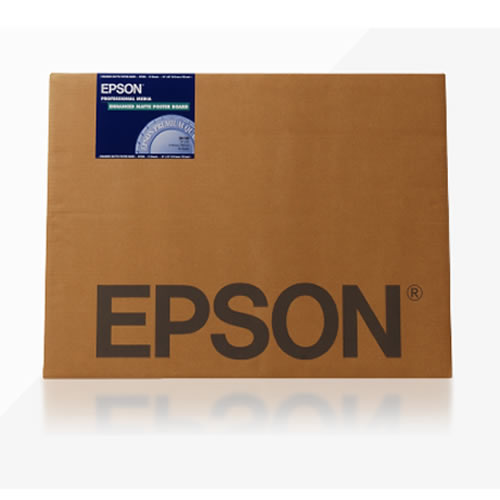 Epson Enhanced Matte Posterboard - 800gsm - A2 x 20 sheets - C13S042111 - express next day delivery from GDS Graphic Design Supplies Ltd