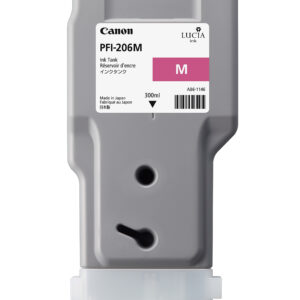 Canon PFI-206M Printer Ink Cartridge - Magenta Ink Tank - 300ml - 5305B001AA - for Canon iPF6400, iPF6400S, iPF6400SE, iPF6450 Printers - express delivery from GDS - Graphic Design Supplies Ltd