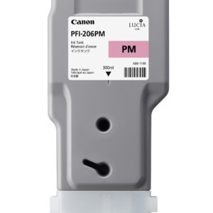 Canon PFI-206PM Printer Ink Cartridge - Photo Magenta Ink Tank - 300ml - 5308B001AA - for Canon iPF6400, iPF6400S, iPF6450 Printers - express delivery from GDS - Graphic Design Supplies Ltd