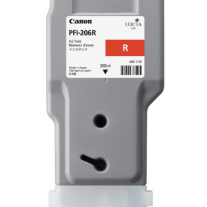 Canon PFI-206R Printer Ink Cartridge - Red Ink Tank - 300ml - 5309B001AA - for Canon iPF6400, iPF6400SE, iPF6450 Printers - express delivery from GDS - Graphic Design Supplies Ltd