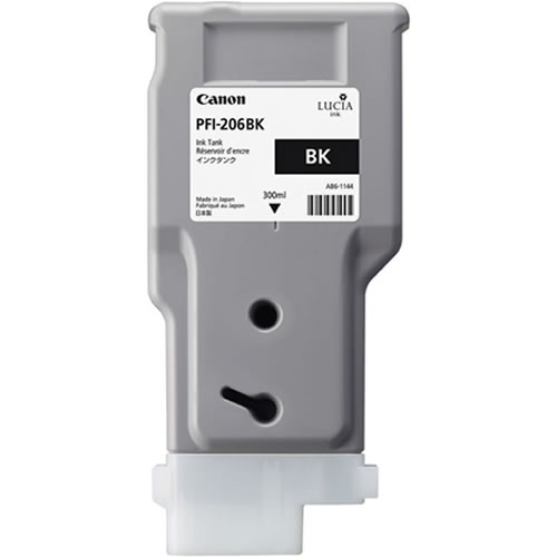 Canon PFI-206BK Printer Ink Cartridge - Black Ink Tank - 300ml - 5303B001AA - for Canon iPF6400, iPF6400S, iPF6400SE, iPF6450 Printers - express delivery from GDS - Graphic Design Supplies Ltd